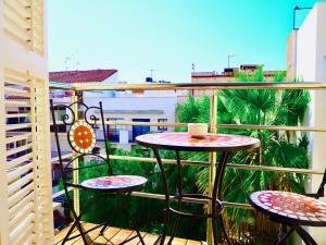 Ein Balkon oder eine Terrasse in der Unterkunft Hotel Liberty