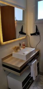 A bathroom at Pousada Lugama