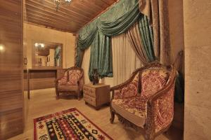 A seating area at Goreme Cave Rooms