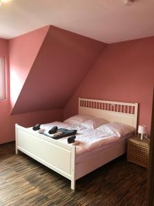 Postel nebo postele na pokoji v ubytování Haus Schön Business & Holiday