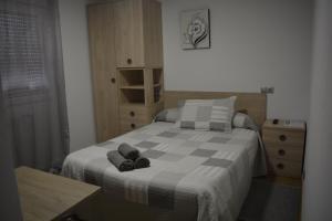 Cama o camas de una habitación en Hospedaje Jose Rey