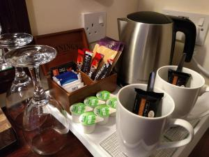Coffee and tea-making facilities at The Angus Hotel
