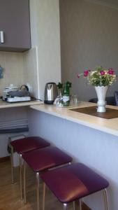 A kitchen or kitchenette at Apartment on Lenina 8