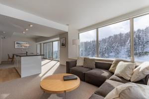 A seating area at The Maples Niseko