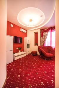Гостиная зона в Отель Люблю-но