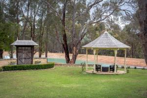 A garden outside Birdwood Estate