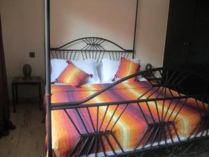 A bed or beds in a room at At Home Marrakech with swimming pool