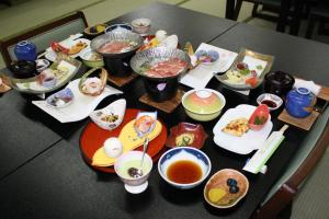 Breakfast options available to guests at Hotel Grand Toya