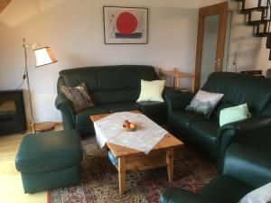 Ein Sitzbereich in der Unterkunft Apartments Luisenhöhe St Peter