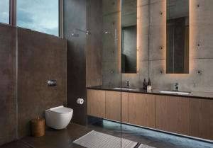 A bathroom at The Olive Tree Villa