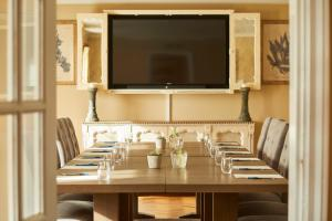 A television and/or entertainment center at The Royal Oak, Yattendon