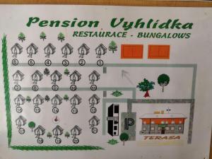 The floor plan of Pension Vyhlídka