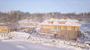 Pension Vyhlídka during the winter