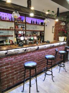 The lounge or bar area at Pension Vyhlídka