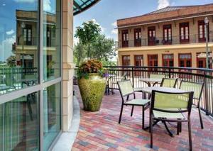 A balcony or terrace at Hampton Inn & Suites Baton Rouge Downtown
