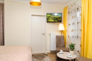Ein Bett oder Betten in einem Zimmer der Unterkunft Pension am Dom
