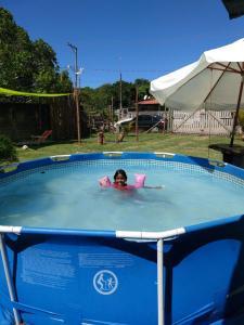 The swimming pool at or near Hostel Leão de judá