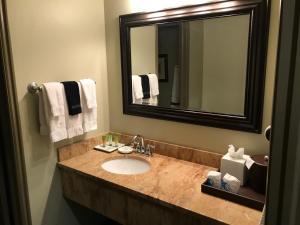 A bathroom at Driftwood Lodge - Zion National Park - Springdale