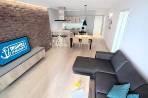 Ein Sitzbereich in der Unterkunft Marina Apartments Regensburg
