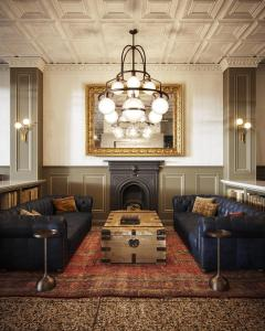 The lobby or reception area at The Armstrong Hotel