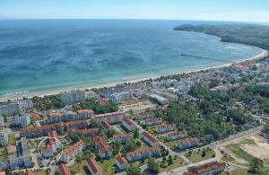 Blick auf Strandruh Apartments aus der Vogelperspektive