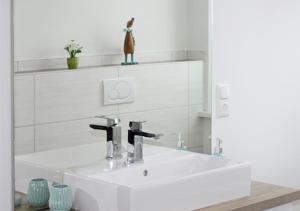 Ein Badezimmer in der Unterkunft Ferienhaus Brockenbahnblick
