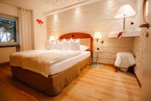 Ein Bett oder Betten in einem Zimmer der Unterkunft Appartement Held - Natur vor den Toren Nürnbergs