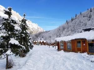 Villas Jezerca during the winter
