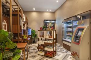 The lobby or reception area at Hilton Garden Inn Dubai Al Jadaf Culture Village