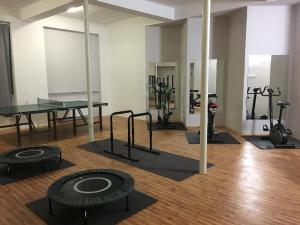 The fitness center and/or fitness facilities at Hotel Racek