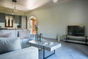 A seating area at Cephalonian Countryside Villa