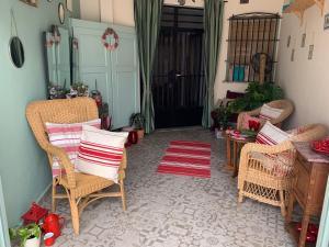 Een zitgedeelte bij Casa Alestelou