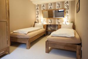 Ein Bett oder Betten in einem Zimmer der Unterkunft FW Loreleyblick
