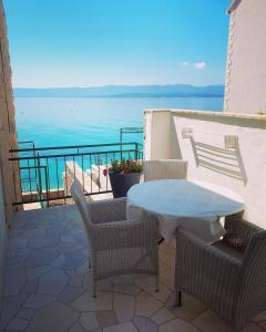 Balkón nebo terasa v ubytování Accommodation Stella Mare