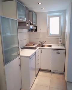 Kuchyň nebo kuchyňský kout v ubytování Accommodation Stella Mare