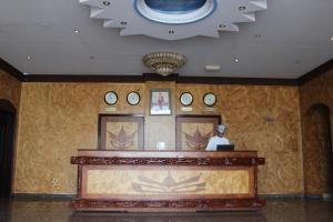 منطقة الاستقبال أو اللوبي في تاج الخليج للشقق الفندقية