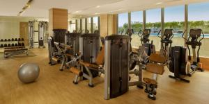 The fitness centre and/or fitness facilities at Hyatt Regency Chandigarh