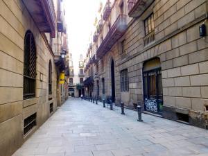 El barri de l'hostal o pensió o un barri que hi ha a prop