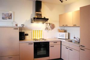 Küche/Küchenzeile in der Unterkunft Appartementhaus Olymp