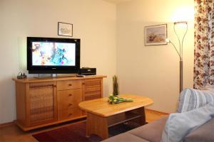 TV/Unterhaltungsangebot in der Unterkunft Appartementhaus Olymp