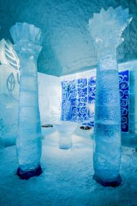 A bathroom at Icehotel