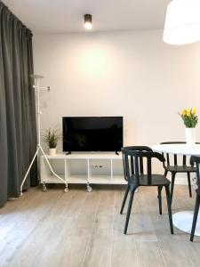 Telewizja i/lub zestaw kina domowego w obiekcie Apartamenty Marynarska 2