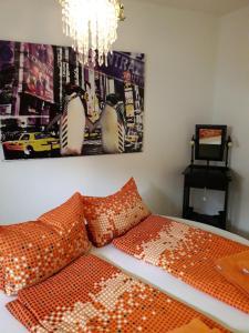 Ein Bett oder Betten in einem Zimmer der Unterkunft Fewo MM