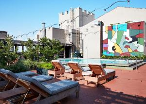 The swimming pool at or near Ace Hotel New Orleans