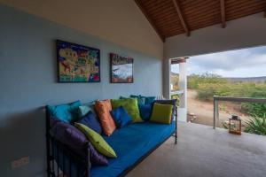 Uma área de estar em Villa San Sebastian
