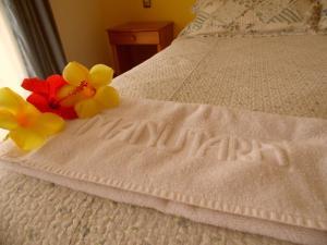 Cama o camas de una habitación en Hotel Manutara
