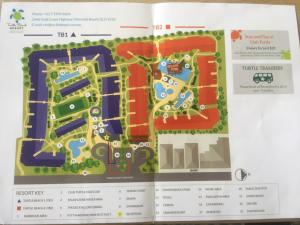 The floor plan of Mermaid Beach Resort Apartment Gold Coast