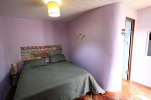 Cama ou camas em um quarto em Pousada Trilha Violeta