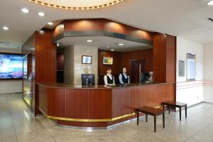 The lobby or reception area at Amami Sunplaza Hotel