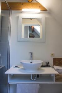 Een badkamer bij B&B Koetshuis